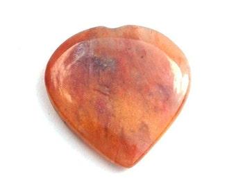 Orange Jade Heart Crystal Stone (Beautifully Gift Wrapped)