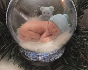 It's a Boy-Welcome Sweet Baby Boy -Birth Announcement-Gender Reveal Keepsake Globe Display