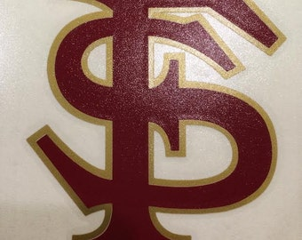 Florida State Seminoles all vinyl 2 color decal