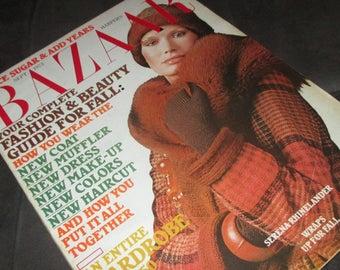 Vintage MOD Harpers Bazaar Magazine September 1973