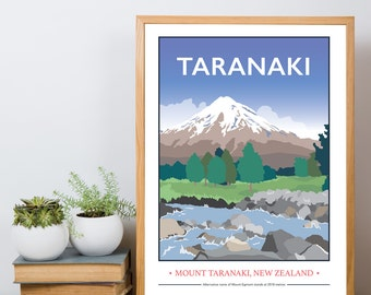 Mount Taranaki, New Zealand Giclee Print