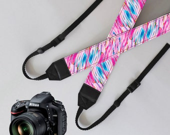Colorful Camera Strap,unique dslr strap,SLR Digital Camera strap,personalized camera strap,nikon camera strap,canon camera strap