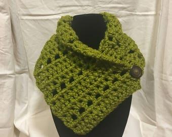 Lemongrass Crocheted Neck Warmer, Cowl, Scarf
