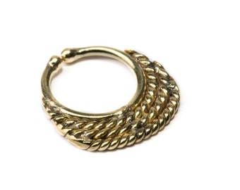 Septum Ring Brass Nickel Free Septum Fake Septum Tribal Jewelery Indian Nose Ring B28 Gift Boxed and Gift Bag Free UK Delivery