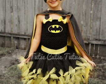 Girl Bat Hero Tutu Dress Costume