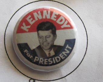 1 Inch Pin Kennedy for President