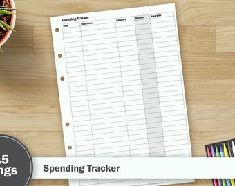 Printable Spending Tracker – A5 Size
