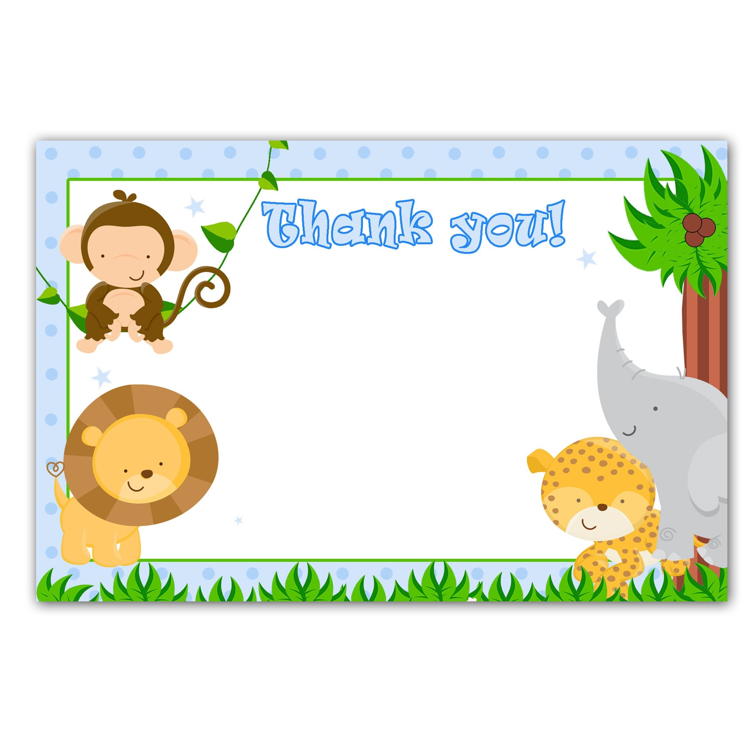 printable baby thank you cards