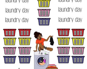 Laundry Day variety stickers