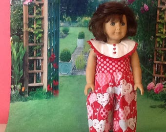 Doll pantsuit for Valentines Day