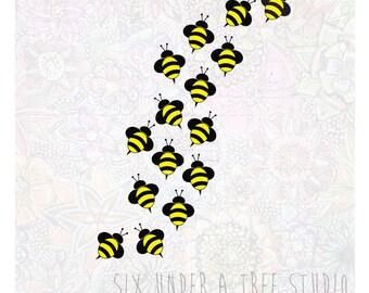 Bees Wall Vinyl Decals Art Graphics Stickers