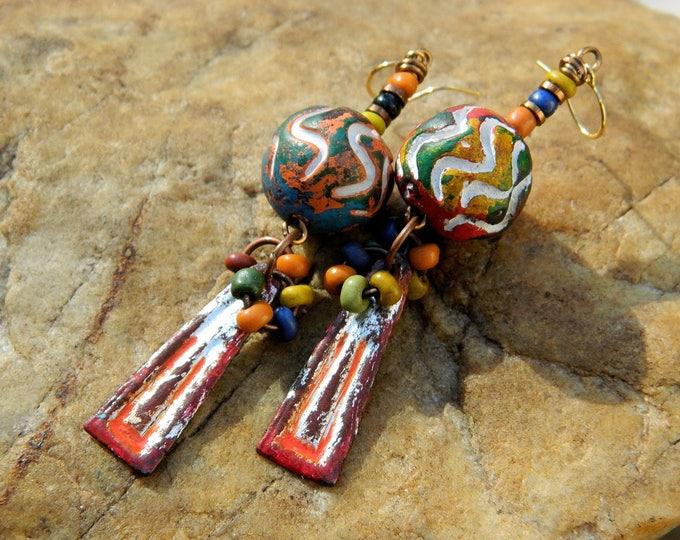 Featured listing image: Boho Dangling Charm Earrings