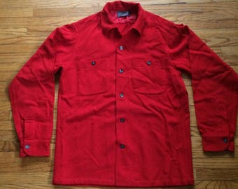 Vintage Pendleton Button Up All Red Wool Shirt