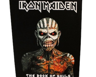 XLG Iron Maiden Book of Souls Back Patch Album Art Metal Jacket Sew On Applique