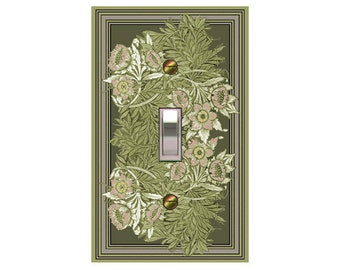 1421X - Art Nouveau William Morris Intricate Leaves - mrs butler switch plate covers -
