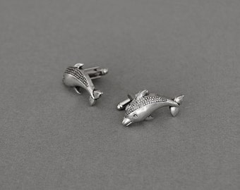Dolphin Cufflinks Men's Cufflinks Dolphin Gifts Statement Cufflinks Novelty Cufflinks Gifts for Him Men's Gifts