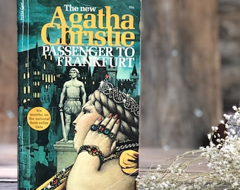Vintage Agatha Christie Passengers to Frankfurt, paperback, mystery, classic