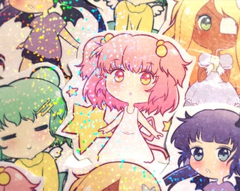 Sugar Pastel Girls HOLOGRAPHIC Stickers