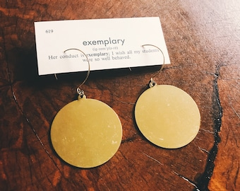 brass circle earrings   brass hoop earrings   simple everyday jewelry brass earrings