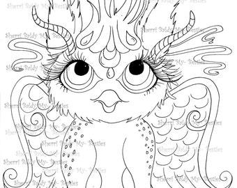 INSTANT DOWNLOAD Digital Digi Stamps Big Eye Big Head Dolls NEW My Besties Magical Creatures  Scann0096 By Sherri Baldy