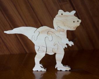 6 Piece Standing wooden T-REX dinosaur