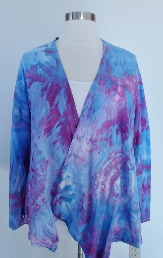 Cotton Ice dye tie dye Waterfall Jacket