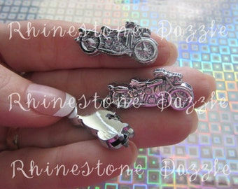 8mm Motorcycle Charms, Motorcycle slider, 8mm Slide Charms, DIY Personalized Jewelry
