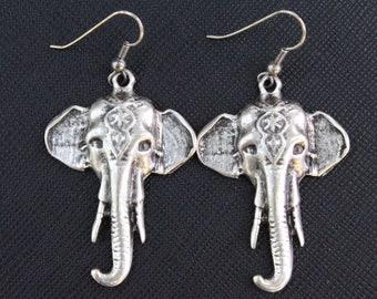 Turkish Earrings, Elephent Head Earrings, Dangly Earrings, Animal Earrings, Costuming Jewelry