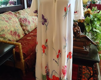 Vintage 1970's Flower Colorblast  Housedress