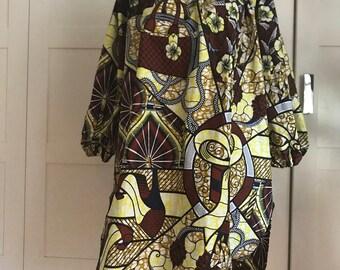 The Michelle Obama Ankara fabric tunic