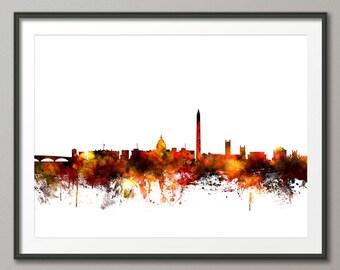 Washington DC Skyline, Cityscape Art Print (1086)
