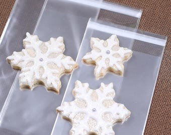 Large Sugar Cookie Bags, Lip-Seal Cellophane Bags, Cello Bags, Cookie Packaging, Candy Bags, Sweet Bags, Candy Buffet, Wedding Favor Bags