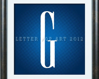 Alphabet Pop Art Print Using GAP Logo Letter G