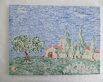 """""""An air campaign"""" mosaic table"""