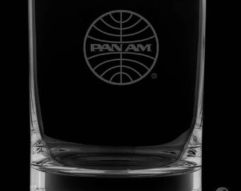 13 Ounce Pan American Airways Personalized Rocks Glass