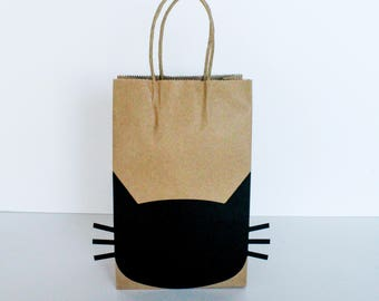 Cat Favor Bags - Halloween Cat - Pack of 10 - Oh Goodness Paper Co