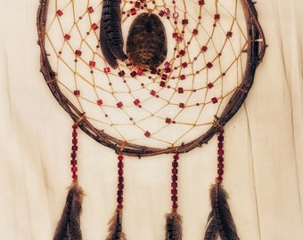 Authentic Dreamcatcher Turtle Shell Red