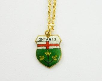 Vintage Ontario Charm Necklace