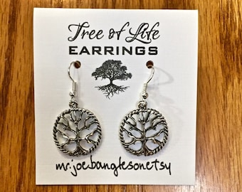 Tree of Life Earrings, Tree of Life Jewelry