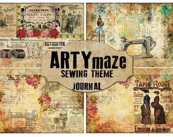 Vintage SEWING Digital Journal  *instant download*