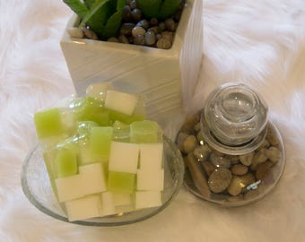 Self-Control - Lime & white luxury natural glycerin soap.