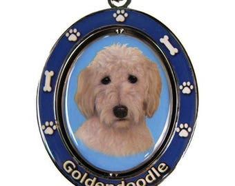 Goldendoodle Dog Spinning Keychain