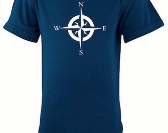 Nautical Compass Silhouette Baby Bodysuit