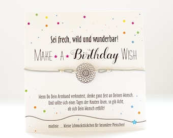 Bracelet * MAKE a WISH * with a flower of life