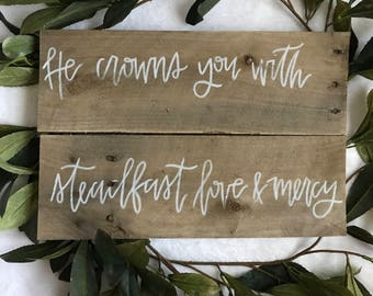 Psalm 103 | Farmhouse Decor | Wood Sign | Handlettered | Christian Wall Art