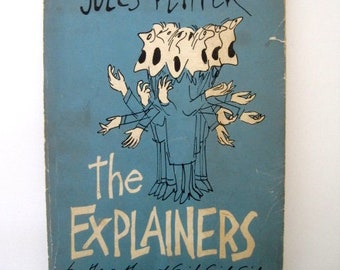 The Explainers by Jules Feiffer stated First Edition, 1960