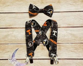 UT Tennessee Suspender Bow Tie Set Child Infant Toddler Baby University