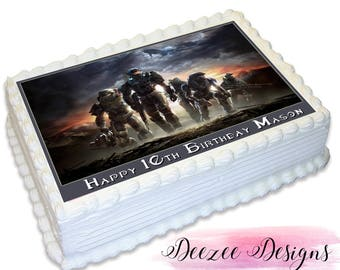Halo Personalised A4 Edible Icing Cake Topper