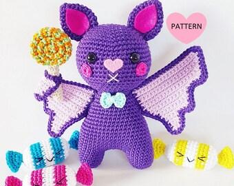 Bat's Need Candy Too - PDF Pattern, crochet, amigurumi