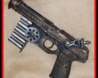 Steampunk gun Victorian scifi pistol APOCALYPTIC cyber--ULTIMATE -SPACETRAVEL INGINEER TOOL---- LARP Prof. Von Kreuzenberg gun tool to another dimension ------ DIRECTLY FROM YEAR  2053---- 2-3 Days SHIPPING